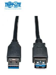 CABLE DE EXTENSIÓN USB 3.0 SUPERSPEED - USB-A A USB-A, M H, NEGRO, 91 CM [3 PIES][