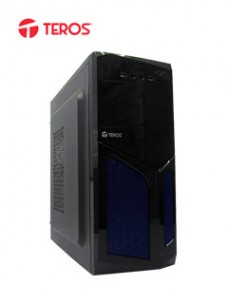 CASE TEROS TE1055, MID TOWER, ATX, 600W, USB 2.0 USB 3.0, AUDIO, NEGRO AZUL. 1 CO