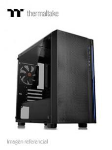 CASE THERMALTAKE VERSA H18 TG, MICRO ATX, NEGRO, USB 3.0 2.0, AUDIO. PANEL LATERA