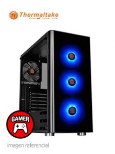 CASE THERMALTAKE V200 TEMPERED GLASS RGB EDITION,MID TOWER, NEGRO, USB 3.0, AUDIO.[
