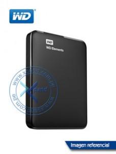 DISCO DURO EXTERNO WESTERN DIGITAL ELEMENTS PORTABLE, 1 TB, USB 3.0, NEGRO.