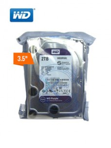 DISCO DURO WESTERN DIGITAL PURPLE WD20PURZ, 2 TB,SATA 6.0 GB S, 5400 RPM, 3.5.