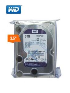 DISCO DURO WESTERN DIGITAL PURPLE SURVEILLANCE, 3TB, SATA 6.0 GBPS, 5400RPM, 64MB, 3.