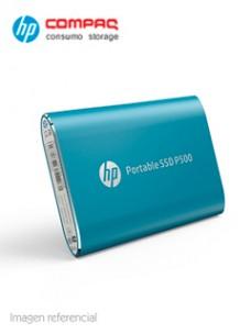 DISCO DURO EXTERNO ESTADO SÓLIDO HP P500, 250GB, USB 3.1 TIPO-C, AZUL. VELOCIDAD