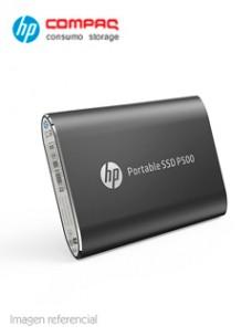 DISCO DURO EXTERNO ESTADO SÓLIDO HP P500, 500GB, USB 3.1 TIPO-C, NEGRO. VELOCIDAD