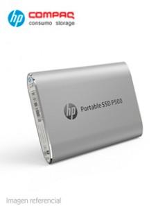 DISCO DURO EXTERNO ESTADO SÓLIDO HP P500, 500GB, USB 3.1 TIPO-C, PLATA VELOCIDAD