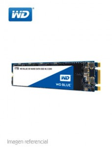 UNIDAD EN ESTADO SOLIDO WESTERN DIGITAL WD BLUE, 1TB, M.2 2280, SATA 6.0 GBPS. VE