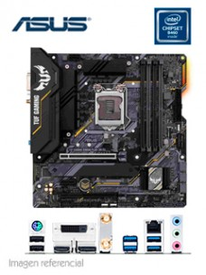 MOTHERBOARD ASUS TUF GAMING B460M-PLUS (WI-FI), LGA1200, INTEL B460, DDR4, V S L WF,