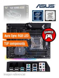 MOTHERBOARD ASUS TUF X299 MARK 2, LGA2066, X299, DDR4, SATA 6.0, USB 3.1. SOPORTA