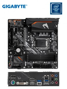 MOTHERBOARD B460M AORUS ELITE (REV.1.0) LGA1200, DDR4, HDMI, DVI-D, DP, HD AUDIO