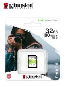 MEMORIA CARD SD KINGSTON CANVAS SELECT PLUS, 32 GB, UHS-I SPEED CLASS 1 (U1). VEL