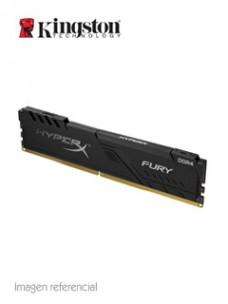 MEMORIA KINGSTON HYPERX FURY BLACK, 4GB, DDR4, 2666 MHZ, PC4-21300, CL16, 1.2V.