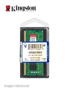MEMORIA KINGSTON KVR26S19S6 4, 4GB, DDR4, SO-DIMM, 2666 MHZ, CL19, 1.2V.