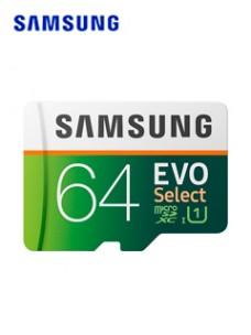 MEMORIA SAMSUNG MICROSDXC EVO SELECT, 64GB, UHS-I, GRADO 1, CLASE 10, CON ADAPTADOR S
