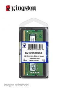 MEMORIA KINGSTON KVR26S19S8 8, 8GB, DDR4, SO-DIMM, 2666 MHZ, CL19, NON-ECC, 1.2V.[