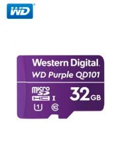 MEMORIA FLASH WD PURPLE 32GB SC QD101 MICROSD, IDEAL PARA CAMARAS DE VIDEOVIGILANCIA.