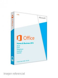 SOFTWARE MICROSOFT OFFICE HOME AND BUSINESS 2013,ESPAÑOL, DVD.