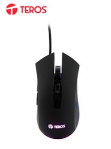 MOUSE ÓPTICO TEROS TE-5162N, 6400DPI, RGB, USB, 6BOTONES, PRESENTACIÓN EN COLGADOR[