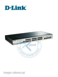 SWITCH D-LINK DGS-1510 SERIES, CAPA L2 L3, 24 RJ-45 GBE, 4 SFP+ 10GBE. CAPACIDAD