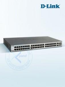 D-LINK SMART SWITCH 48-PUERTOS 10 100 + 2 PUERTOS10 10 1000 + 2 COMBO 1000 BASE T SFP
