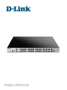 SWITCH D-LINK DGS-3630 SERIES, CAPA L3, 20 RJ-45 GBE, 4 SFP GBE, 4 PUERTOS SFP+ 10 GB