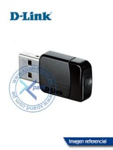 ADAPTADOR USB INALÁMBRICO D-LINK DWA-171, 2.40GHZ 5GHZ, 802.11AC, USB 2.0. SEGURI