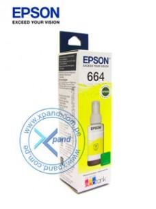 BOTELLA DE TINTA EPSON T664420, COLOR AMARILLO, CONTENIDO 70ML, PARA IMPRESORAS EPSON