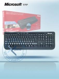 TECLADO MICROSOFT WIRED KEYBOARD 600, USB, MULTIMEDIA DIGITAL, ESPAÑOL, DISEÑO A PRUE