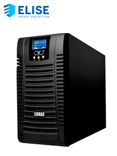 UPS ELISE FASE ONLINE SERIE ZEN 3000VA   2700W   6 TOMAS DE SALIDA NEMA 5-15   USB[