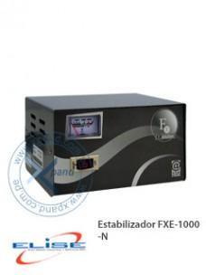 ESTABILIZADOR FXE-1000, FASE ESTADO SÓLIDO 1.0KVA, 4X220VAC + 1XBYPASS, NEGRO, PRESEN
